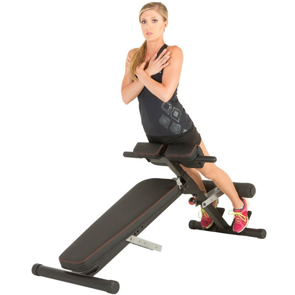 IRONMAN Triathlon X-Class Light Commercial Multi- Workout Abdominal/ Hyper Back Extension Bench