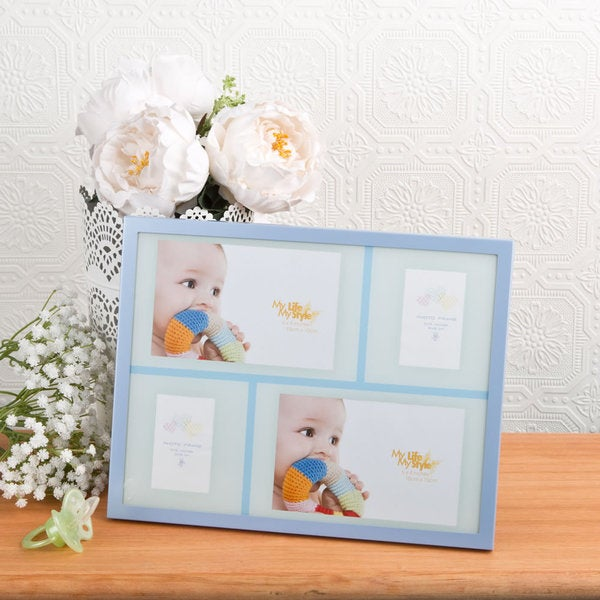shop blue baby collage picture frame free shipping on orders over