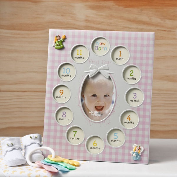 Pink Baby Collage Picture Frame