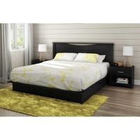 South Shore Step One King Platform Bed with Drawers and Headboard Set