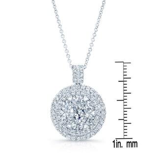 14k White Gold 2 1/4ct TDW Diamond Rolo Chain Pendant (H-I, SI1-SI2)
