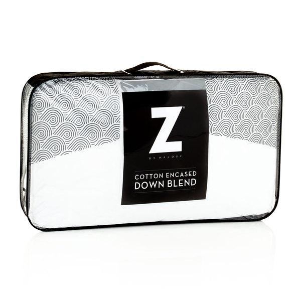 Z Cotton Encased Down Blend Pillow - White