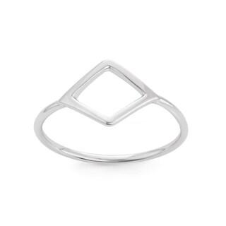 La Preciosa Sterling Silver Small Open Shape Ring