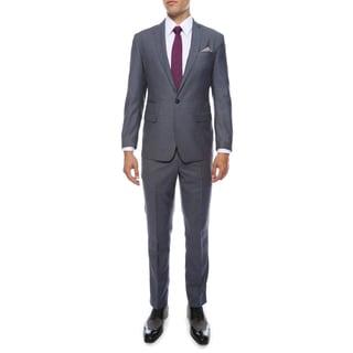 Zonettie Men's Milano Blue Peak Lapel Slim Fit 2-Piece Suit