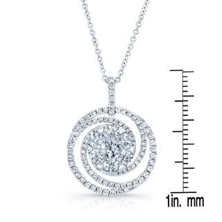 14k White Gold 1 1/3ct TDW Diamond Pendant Necklace (H-I, SI1-SI2)