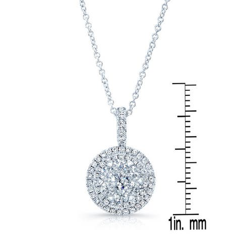 14k White Gold 1 1/5ct TDW Diamond Pendant
