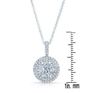 14k White Gold 1 1/5ct TDW Diamond Pendant (H-I, SI1-SI2)