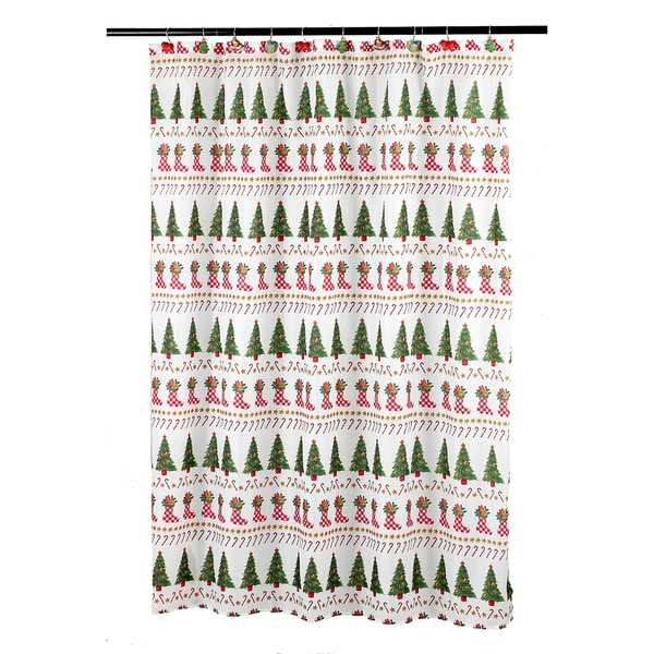 14-piece Holiday Bath Shower Curtain Ensembles