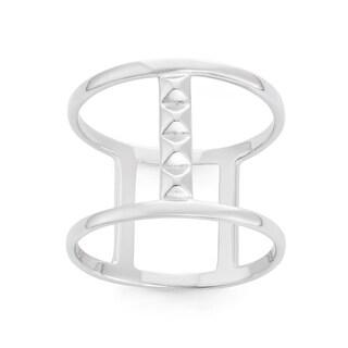 La Preciosa Sterling Silver Double Band with Bars Ring