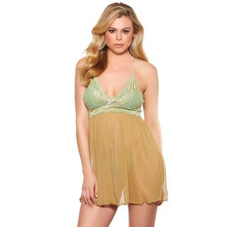Alluring Golden Babydoll with Bow Detail and a Matching Panties by Popsi Lingerie|https://ak1.ostkcdn.com/images/products/10813768/P17858799.jpg?impolicy=medium