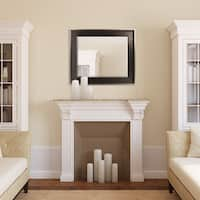 Two-tone Bronze with Champagne Edge Finish Beveled Mirror