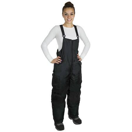 Women's JTC Black Nylon Snow Bibs