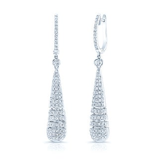 18k White Gold 1 1/3ct TDW Diamond Earrings (H-I, SI1-SI2)