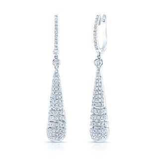 18k White Gold 1 1/3ct TDW Diamond Earrings
