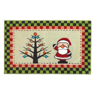 """Americana Holiday"" Christmas Themed Bath Rug
