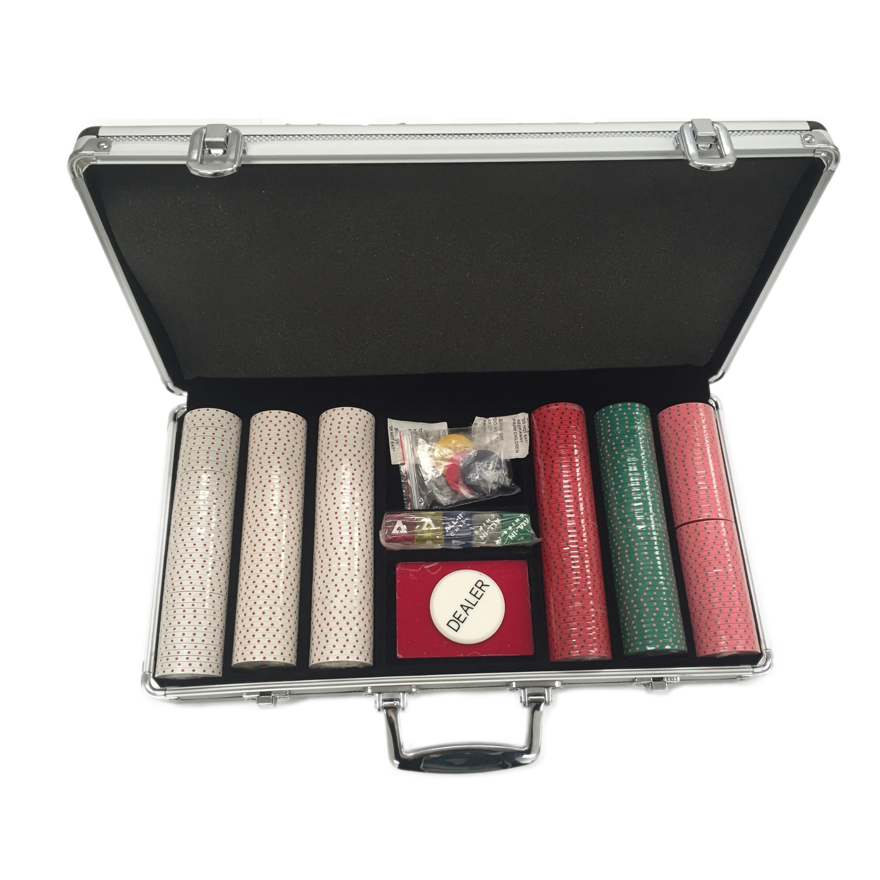 All-In 300-piece Clay Poker Chip Set with Carrying Case (...
