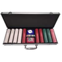 All-In 500-piece Clay Poker Chip Set with Carrying Case