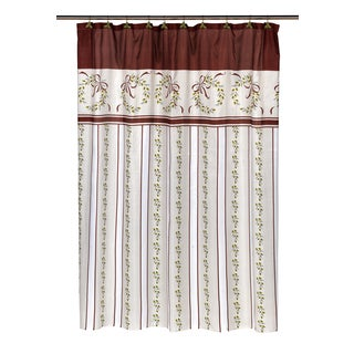"14-piece ""Victorian Christmas"" Holiday Themed Shower Curtain Ensemble"