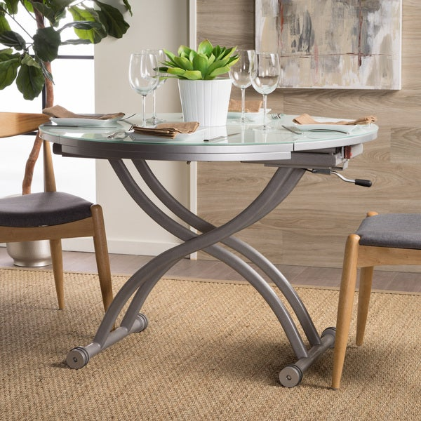 Delicieux Shelby Glass Top Folding Table With Drop Leaf By Christopher Knight Home