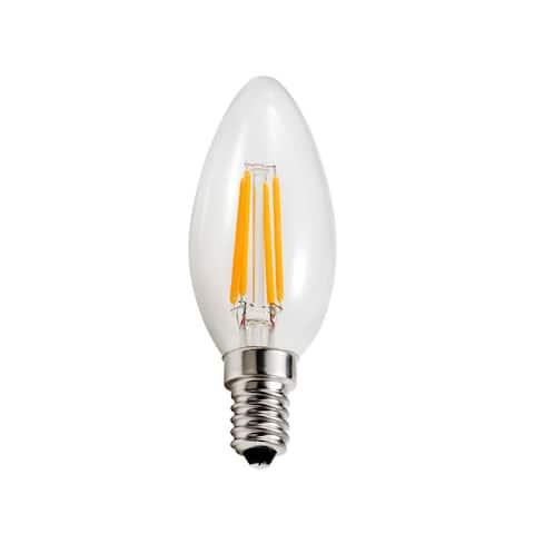Goodlite 3.5-Watt LED Filament Candelabra Bulb Dimmable Torpedo Tip - Equivalent 40W Incandescent Bulb UL 400 Lumens - 10 Pack