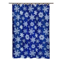 "14-piece Christmas ""Snowflake"" Holiday Themed Shower Curtain Ensemble"