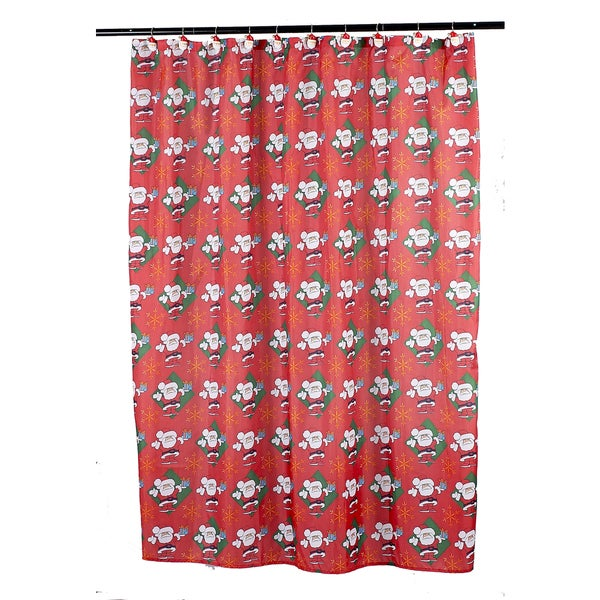 14-piece Christmas u0026quot;Santa Clausu0026quot; Holiday Themed Shower Curtain Ensemble - Free Shipping On ...