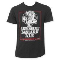 Arrogant B*stard Men's Charcoal Beer Logo T-Shirt