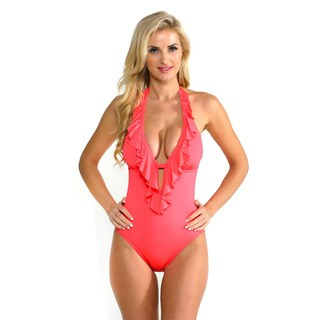 Kenneth Cole Reaction Women's Heart Crush Rose One-piece Swimsuit