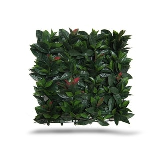 Indoor/Outdoor Laurel Artificial Foliage Wall Panels (Set of 4) - Green