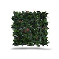 Greensmart Decor Artificial Laurel Foliage Wall Panels (Set of 4)