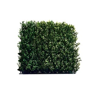 Indoor/Outdoor Myrtle Artificial  Foliage Wall Panels (Set of 4) - Green
