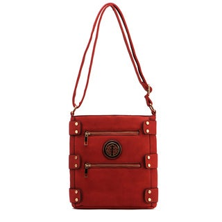 MKF Collection Adriana Multi-pocket Crossbody Handbag by Mia K. Farrow