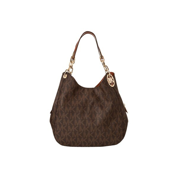 Michael Kors Fulton Large Brown Logo Shoulder Tote Bag