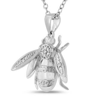 Diamond Bee Necklace, 18 Inches|https://ak1.ostkcdn.com/images/products/10814076/P17859015.jpg?impolicy=medium