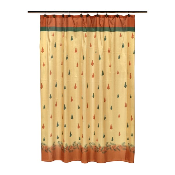 "14-piece Christmas ""Winters Break"" Holiday Themed Shower Curtain Ensemble"