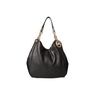 Michael Kors Fulton Black Large Shoulder Handbag