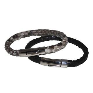 DIDAJ Jewelry Men's Genuine Python Leather Bracelet