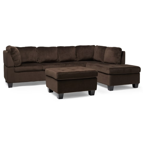 Canterbury 3-piece Fabric Sectional Sofa Set by Christopher Knight Home - Free Shipping Today - Overstock.com - 17859159  sc 1 st  Overstock.com : 3 piece sectional sofa - Sectionals, Sofas & Couches