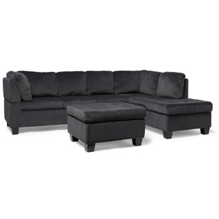 Canterbury 3-piece Fabric Sectional Sofa Set by Christopher Knight Home (Option: Charcoal)