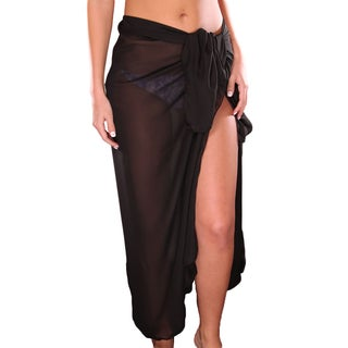 Black Long Sheer Sarong
