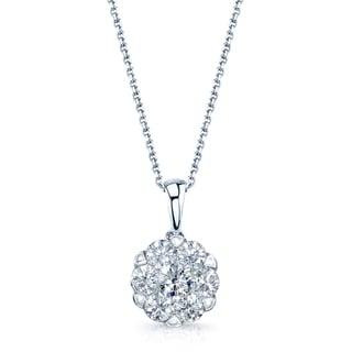 14k White Gold 1/2ct TDW Diamond Pendant