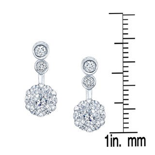 14k White Gold 1/3ct TDW Diamond Drop Earrings