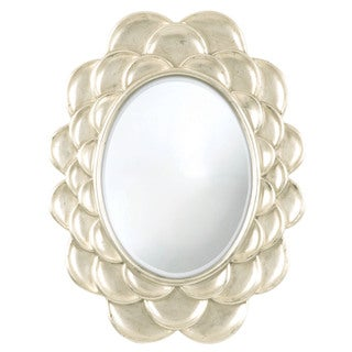 Selections by Chaumont 40-inch Silver Petals Oval Wall Mirror