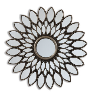 Selections by Chaumont 40-inch Bronze Sunflower Decorative Mirror