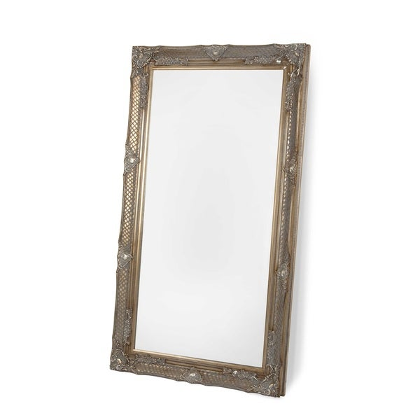 Selections by chaumont belgrave 69 inch antique gold large for Leaning wall mirror