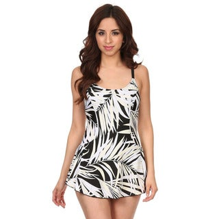 Dippin Daisy's White Leaf One Piece Swimdress