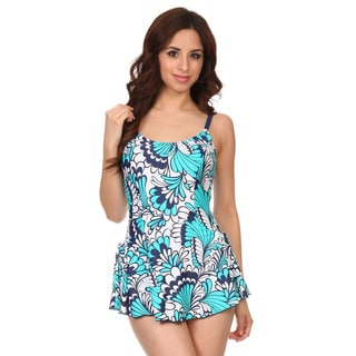 Dippin Daisy's Green Gebera One Piece Swimdress