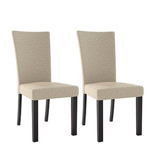 Bistro Woven Fabric Dining Chairs, Set of 2