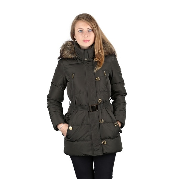 11dc9af8f59b Shop Michael Michael Kors Dark Moss Down Puffer Coat - On Sale - Free  Shipping Today - Overstock - 10814210