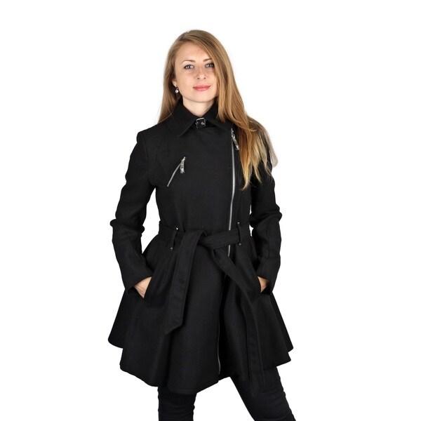 Shop BCBG Generation black Wool Skirted Coat